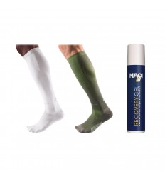 ZESTAW: Mcdavid skarpety runners + Mcdavid skarpety recovery + Naqi Recovery gel